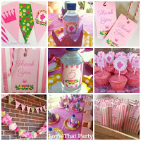Floral Princess Birthday Party Printable Decoration Kit