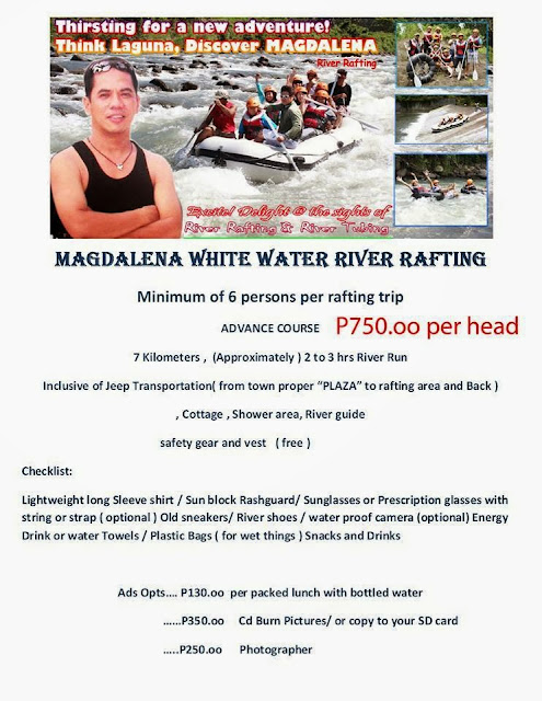 River Rafting and Water Tubing Adventure in Magdalena Laguna