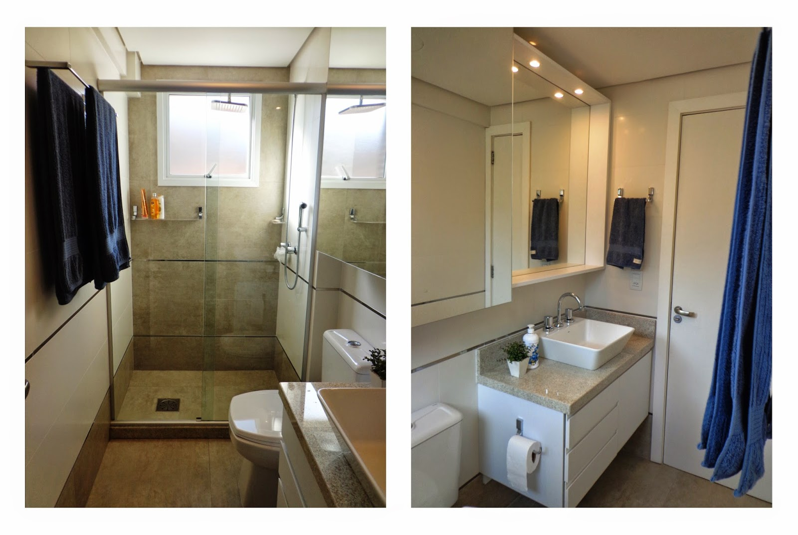 foram substituídos com a intensão de personalizar os dois banheiros #283C67 1600x1073 Banheiro Com Porcelanato Rustico