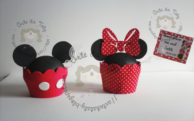 Cupcake Da Minnie E Mickey