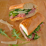 Prime rib sandwich with truffle butter  la Barefoot Contessa