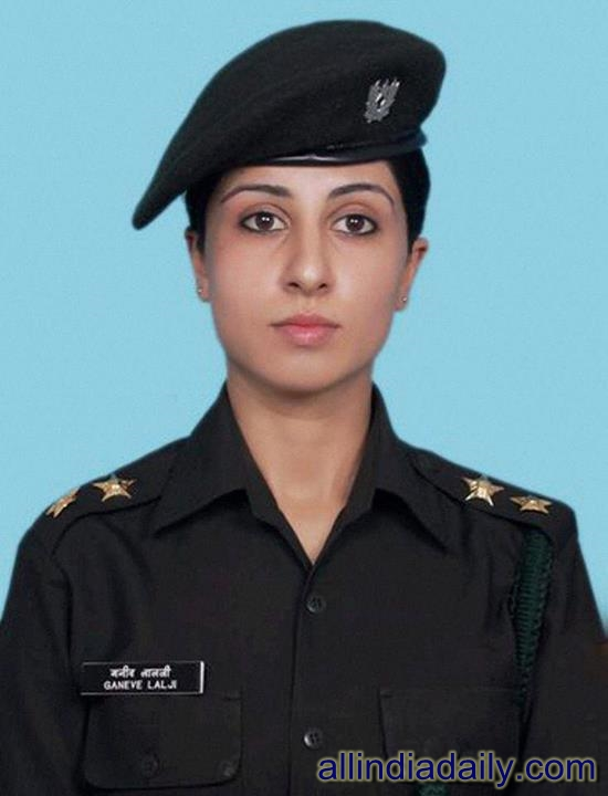 Ganeve Lalji India's first woman to be appointed as a key aide to an Army Commander