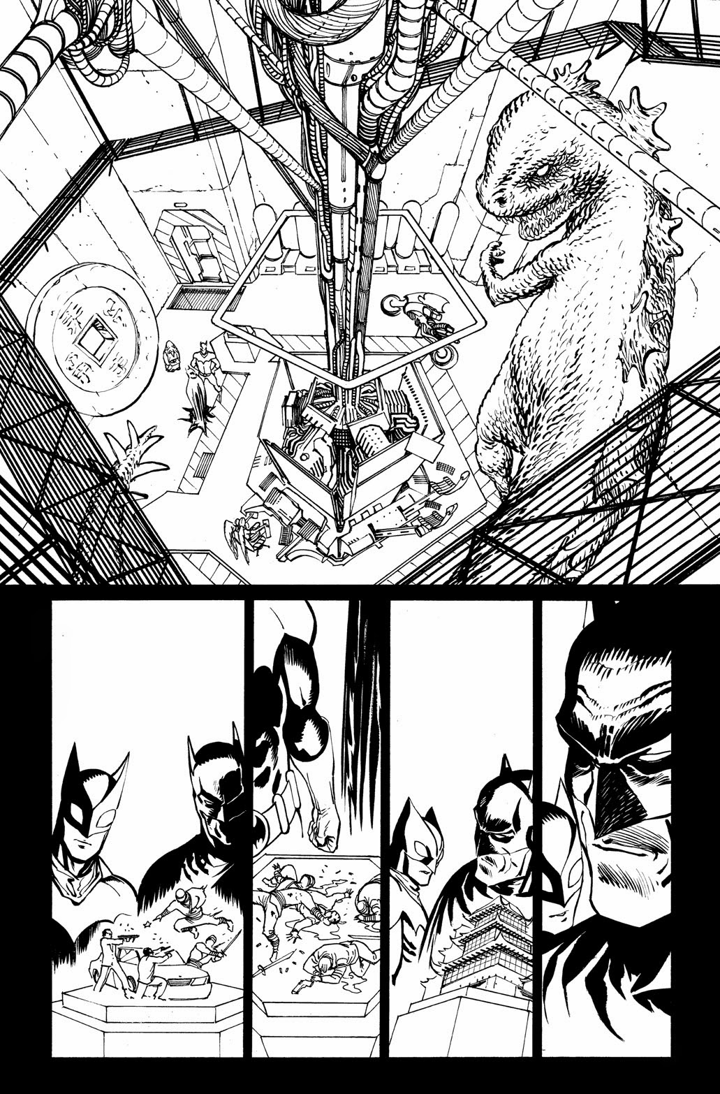 Pages from BATMAN ETERNAL 9 by Guillem March
