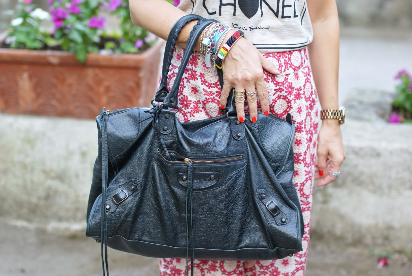 black Balenciaga work bag, Fashion and Cookies, fashion blogger