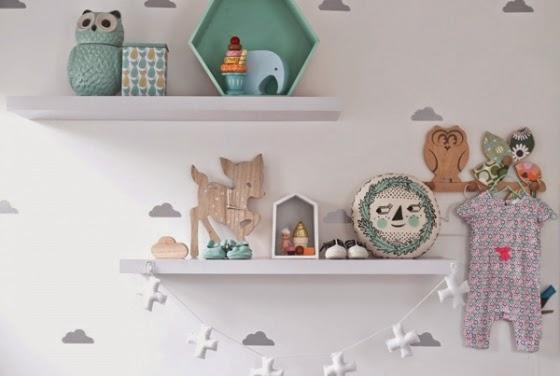 Como decorar en turquesa y gris una habitaci n de beb for Habitacion blanca y turquesa