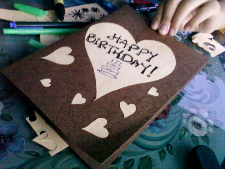Her Dream Hand Made B Day Card