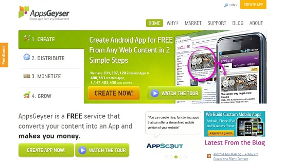 5 Sites To Make Free Android App, No Programming & Coding Skills ...