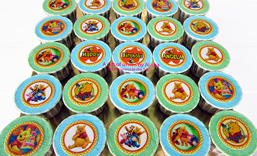 Birthday Cupcake Edible Image Winnie the Pooh