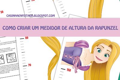 medidor de altura para imprimir rapunzel princesas disney
