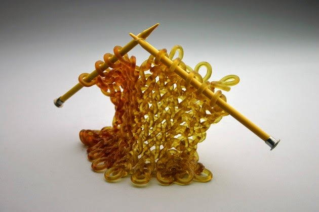 amazing sculpture, knitted glass