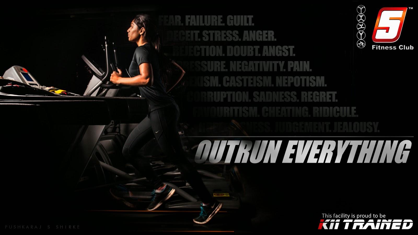 Pushkaraj S Shirke 5 Fitness Club Poster Campaign