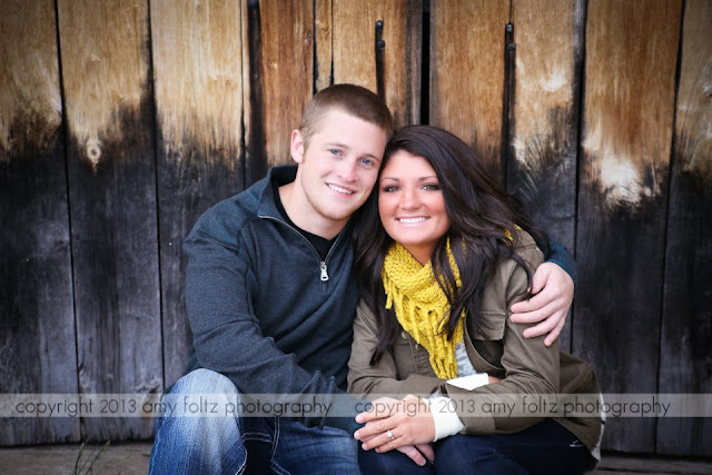 engagement photo of a couple at Fowler Park in Terre Haute