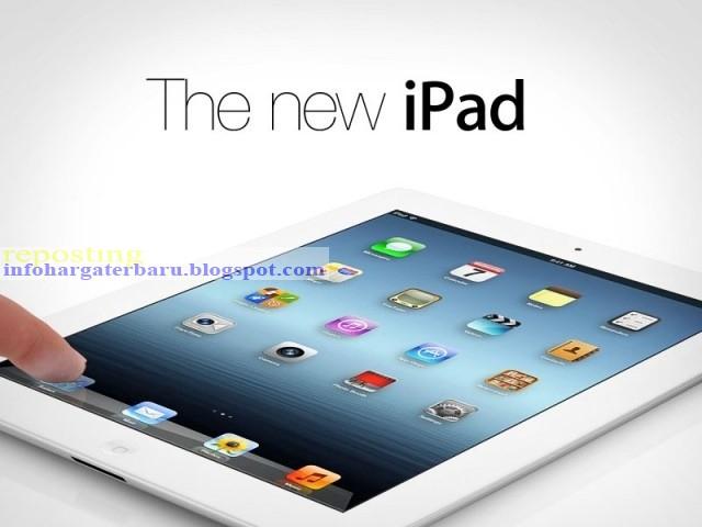Harga iPad 4 New 16GB, 64GB Spesifikasi 2012