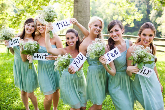 Mint Green Bridesmaids And White Decorations Etc Perfectly Picture A Sign Of Spring The Nature Here Are Some Ideas For