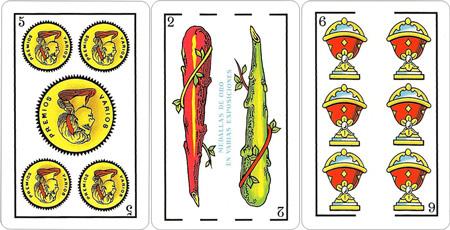 cartas españolas gratis 1 parte escoge de la baraja tres cartas