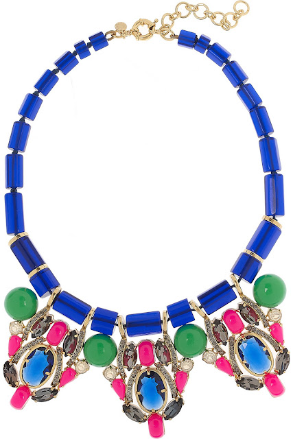 J.Crew crystal and bead necklace