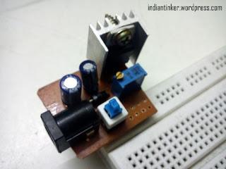 Regulador de tensão com LM317