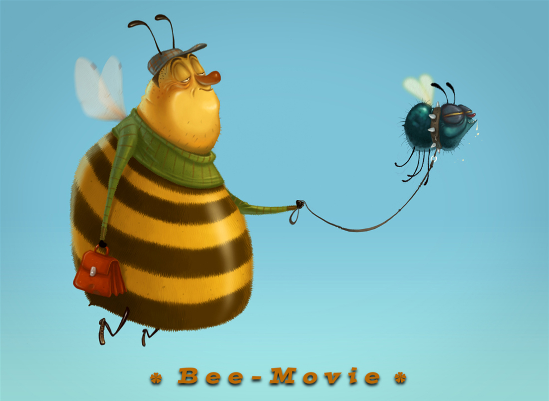 living lines library bee movie 2007 concept art. Black Bedroom Furniture Sets. Home Design Ideas