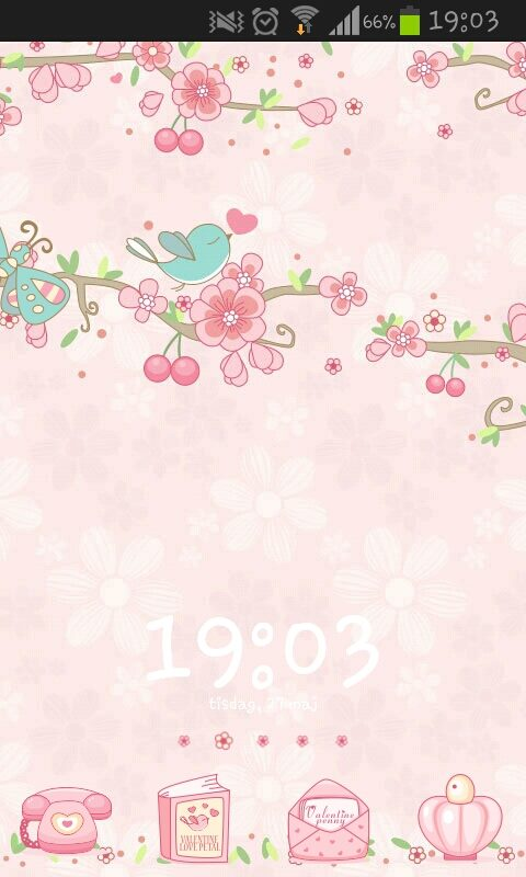 cute pink phone theme