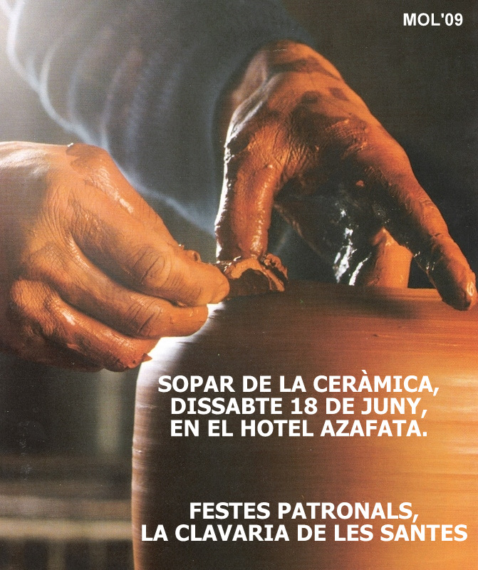 18.06.16 EL SOPAR DE LA CERÀMICA PELS CLAVARIS DE LES SANTES ESCUDELLERES