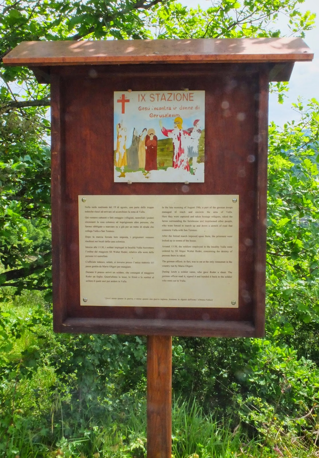 Station of the Cross San Terenzo Monti Massacre