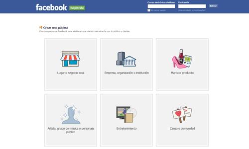 Página de Facebook para tu blog