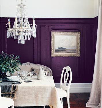 Inspire bohemia delicious dining rooms and nooks part iii for Purple dining room wall art