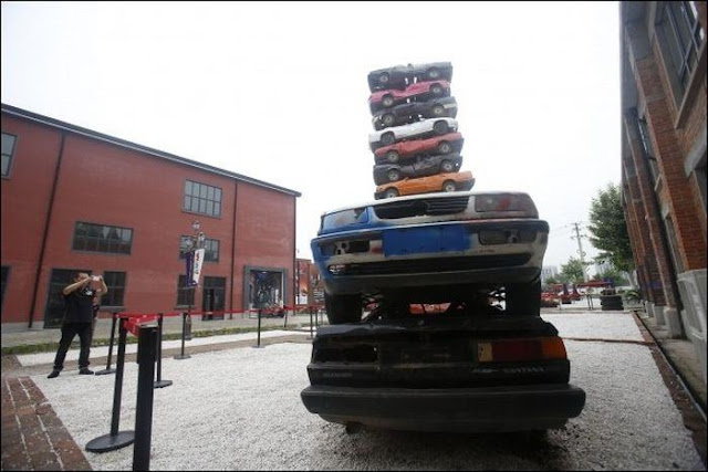Tower of Old Cars in China