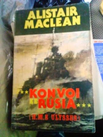 Alistair maclean,konvoi ke rusia,h.m.s ulysses,inzu books, toko buku