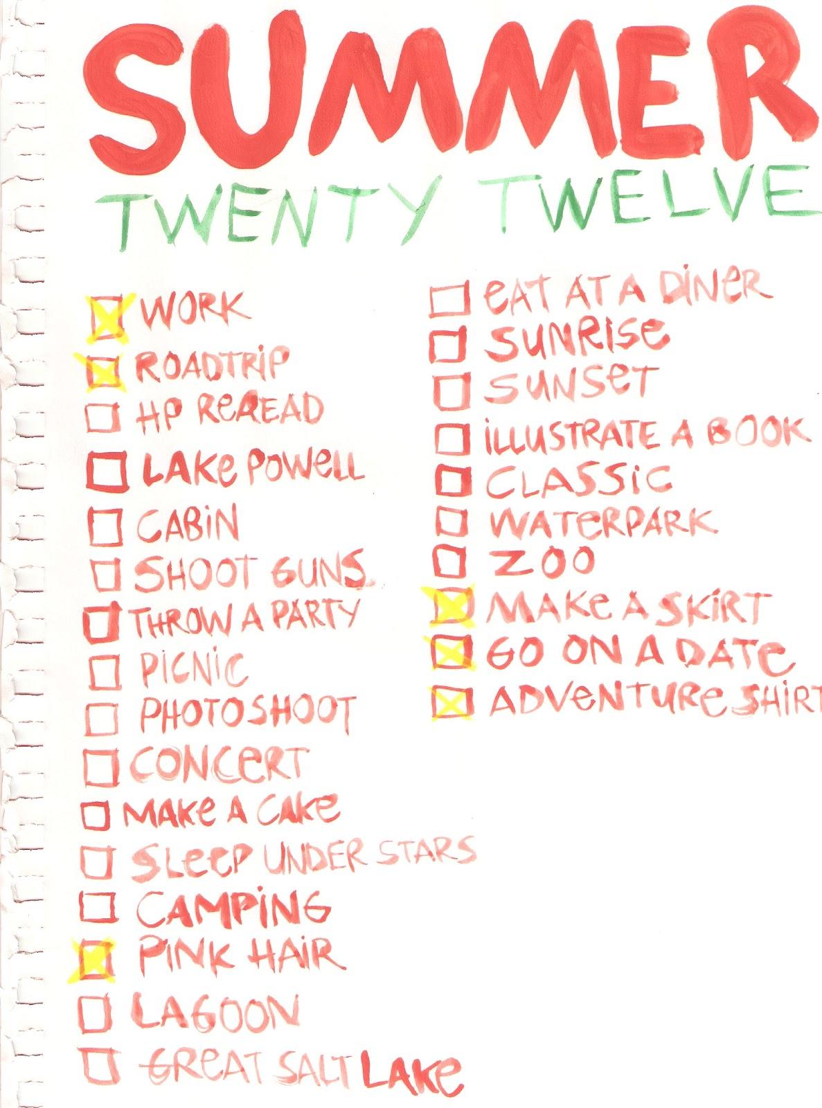 Summer Bucket List With Boyfriend Tumblr