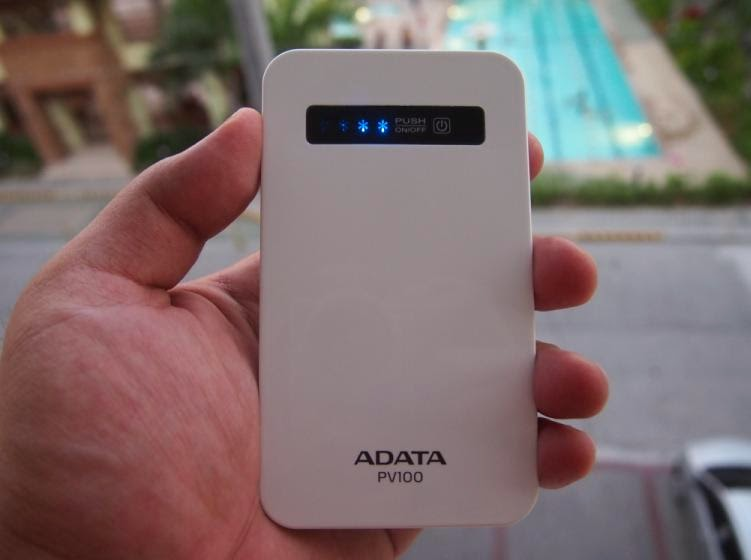 ADATA PV100 4200mAh Power Bank Review: Power On The Go Front