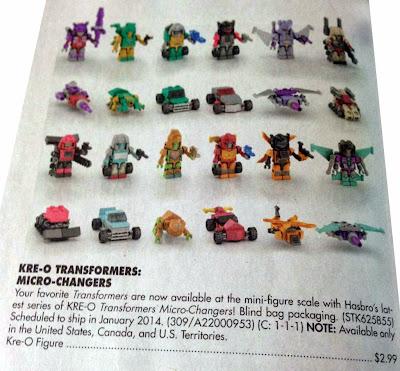 Hasbro Transformers Kre-O Micro-Changers Wave 4