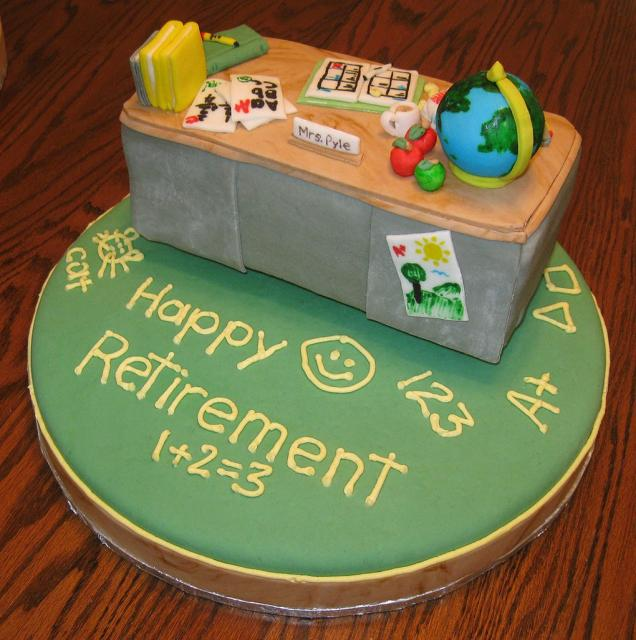 Retirement cakes for teachers