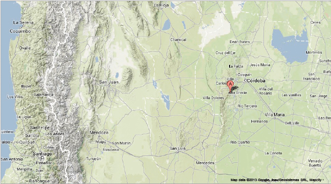 Sciency Thoughts Magnitude Earthquake In The Sierras De - Argentina map cordoba