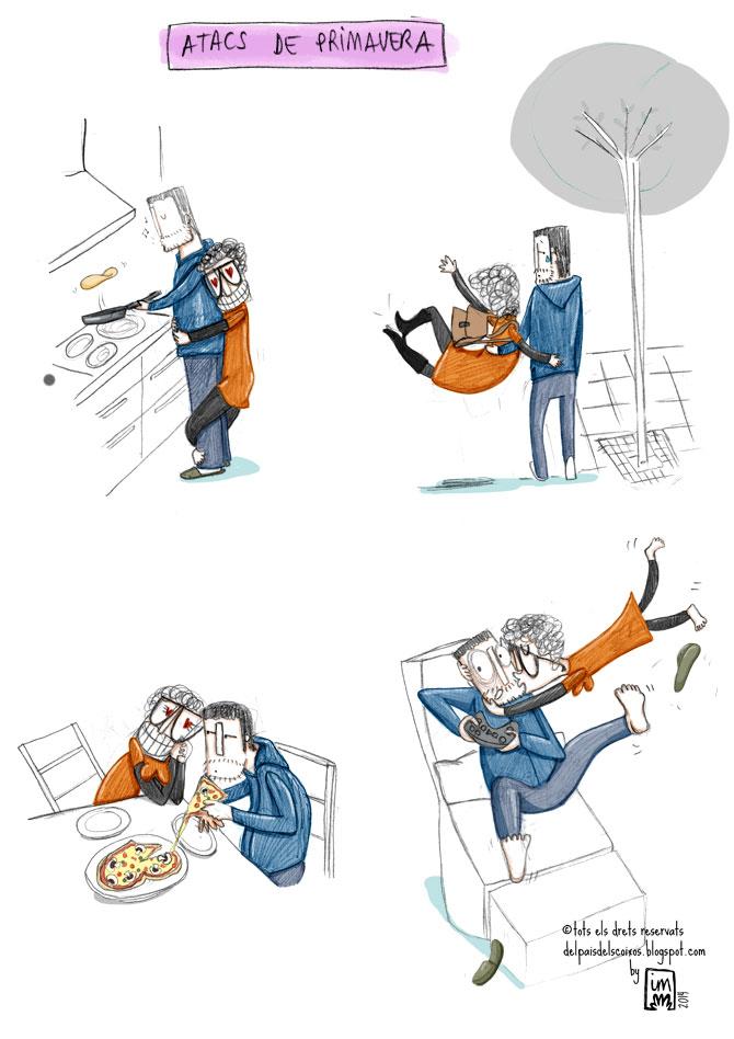 il·lustració sobre la primavera @Imma Mestre Cunillera a Del país dels coixos.