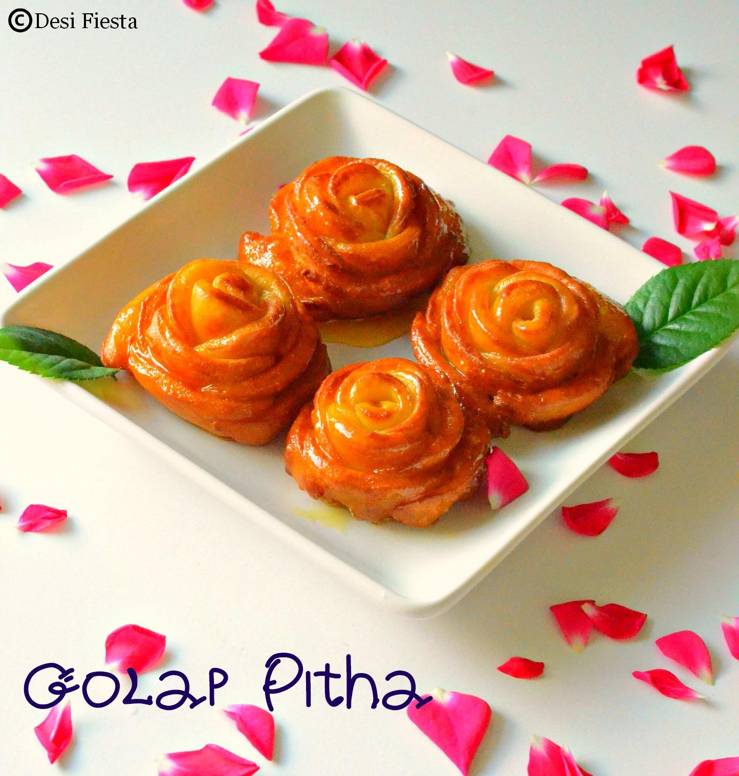 Rose shaped Pitha