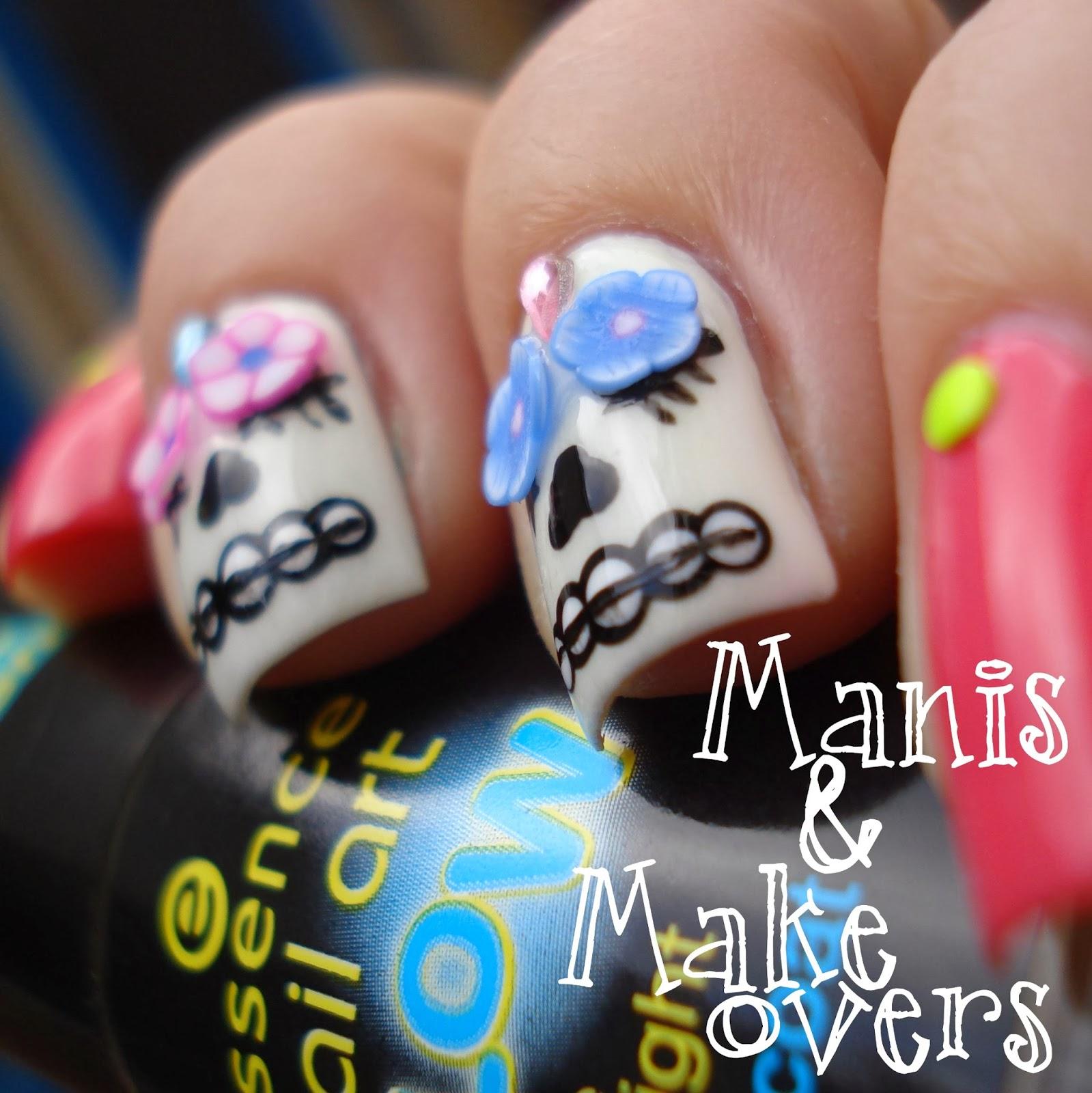 Manis & Makeovers: Día de los Muertos - Sugar Skulls!