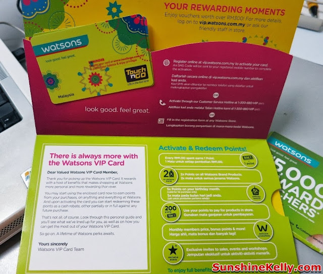 Watsons VIP Card with Touch n Go, Watsons VIP Card, Touch n Go, benefits
