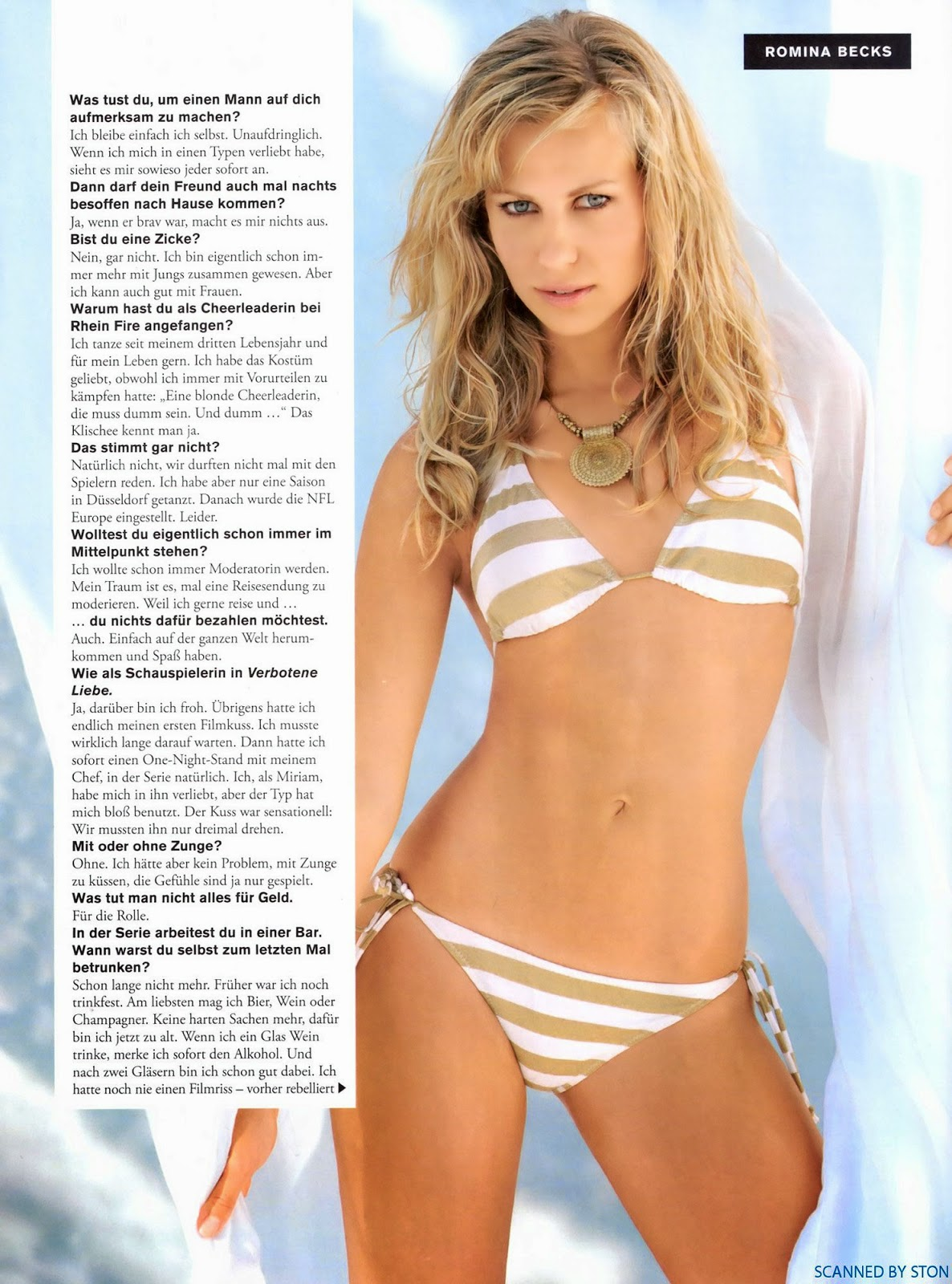 Nackt Bilder : Romina Becks FHM Naked Pics   nackter arsch.com