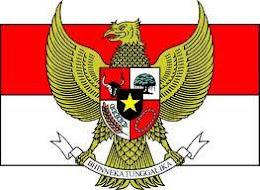 Lambang NKRI dan bendera Merah Putih