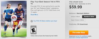 FIFA 16 American price