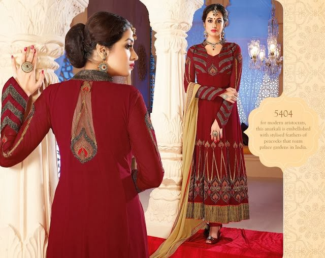 New Long Length Anarkali Frocks 2014 For Women And Girls Fashion