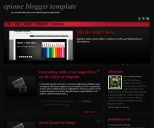 Epione Blogger template