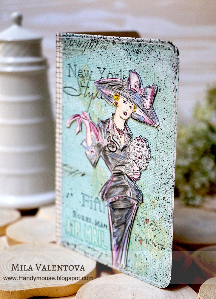 Акварельные краски и каранадаши, декоративный скотч,штампы. Автор Мила Валентова.