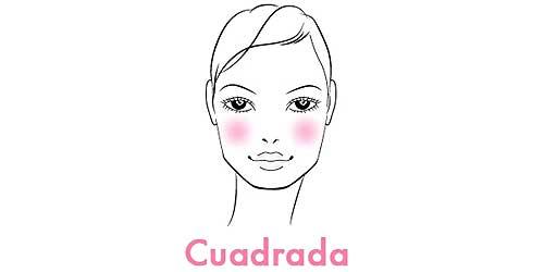 colorete perfectos para rostros cuadrados