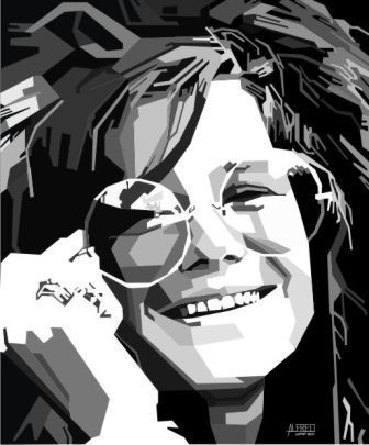 janis joplin coreldraw tracing vector