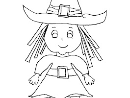 Witch And Cauldron Coloring Page