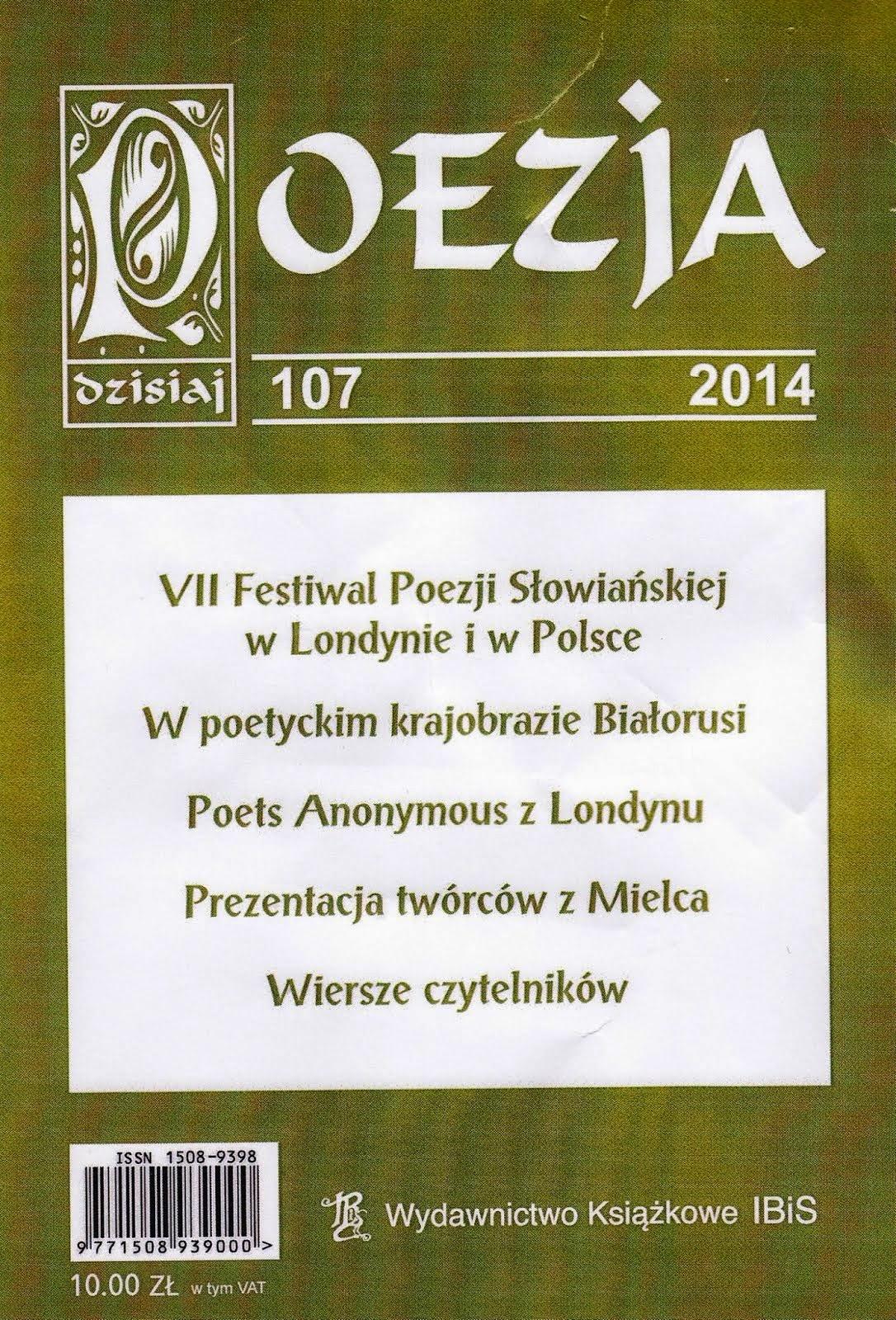 """Udział w: """"Poezja dzisiaj"""" - Numer 107/2014"""