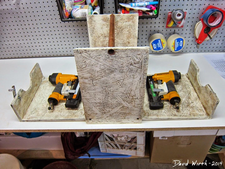 folding wood box, nail gun case