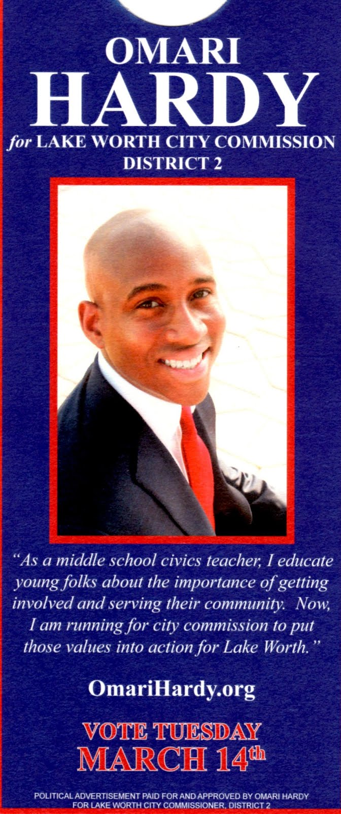 "District 2 candidate & the ""Omari Effect"":"